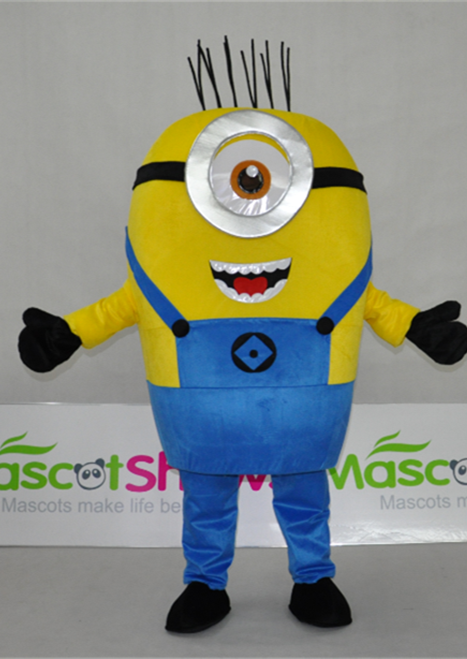 New Big Eye Minion Mascot Costume Halloween Party Fancy Dress Adult Size