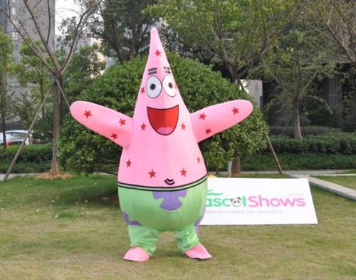 & Patrick Starfish Mascot Adult Costume Patrick Starfish Mascots