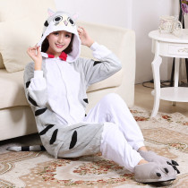 Large Size XXL Cute Cheese Cat Kigurumi Flannel Cartoon Onesie For Men Pajamas Night-suit Set Cosplay Jumpsuit Party Sleepwear