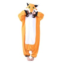 Fleece Nick Fox Onesie Adult Pajamas Cartoon Orange Lowrie Sleepwear Costume Women Cosplay Winter Warm Pyjama Kigurumi Onesies
