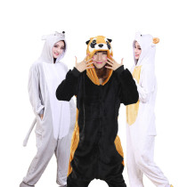 Cozy Flannel Adult Kigurumi Onesies Cartoon Character Frog Bat Bunny Pajamas For Halloween Winter Pijama Cosplay Home Parties