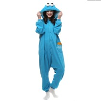 Cookie Monster Kigurumi Cartoon Onesie Jumpsuit Adult Sesame Street Pajamas For Women Sleepwear Pyjamas Cosplay Halloween Party