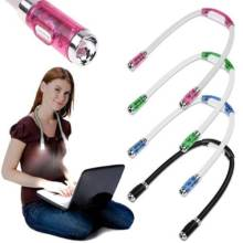 Flexible Adjustable 4 LED Study Reading Hug light Neck Book Night Lamp Torch