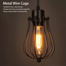 Lamp Covers Pendant Chandelier Metal Wire Cage Ceiling Cafe Bars LED Lamp Shades