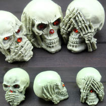 3PCS Halloween Party Resin Skeleton Ghost Decoration Toys Desk Décor