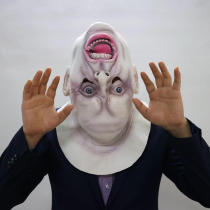Halloween Scary Full Face Head Mask Latex Cosplay Horror Costume Props Party