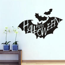 Creative Bat Wall Sticker Halloween Bat Removable Wallpaper Vinyl Art Decal Waterproof Decor Sticker Cartoon Animals Halloween Decoration Vinyl Window Glass Refrigerator Wall Stickers Home Party Décor