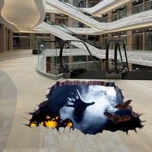 Halloween Horrible 3D Floor Sticker Bedroom Living Room Haunted House Decor Wall Stickers Ghost Hand Through The Floor