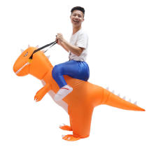 Halloween Inflatable Costume Adult T-Rex Dinosaur Suit Blowup Dragon Ride Outfit
