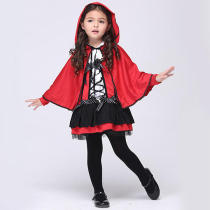 Cute Little Girls Little Red Devil Cosplay Costume Halloween Little Red Riding Hood Costume