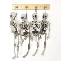 15cm Skeleton Escape Haunted House Halloween Skull Decoration Hanging Plastic Skeletons Tricky Halloween Props