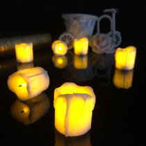 4.3*4.5cm Battery Powered Flameless LED Table lamp Candle Night Light Halloween Christmas Decoration