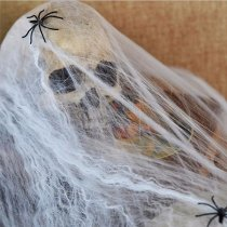 Noctilucent Spider Web With 2 Spiders Halloween Home Party Haunted House Décor