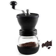 AU Black Manual Coffee Grinder Hand Mill Roasted Coffee Bean Grinding Skerton and Glass Jar Kit