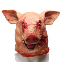 Halloween Pig Head Mask Masquerade Horror Animal Cosplay Party Latex Mask Gifts