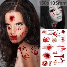 Halloween Supplies Scab Bloody Makeup Zombie Tattoos  Terror Wound Scary Bloody Sticker