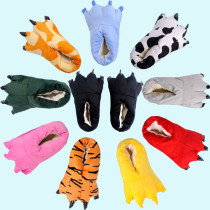 Cheap Soft Animal Paw Unisex Slippers Cartoon Character Cosplay Monster Claws Slippers Plush Winter Warm Home Indoor Slippers