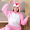 Cute Animal Kigurumi Pink Panther Woman Onesie Hooded Onesies For Adult One-Piece Pajamas Long Sleeve Sleepwear Pijama Winter