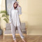 Fancy Plush Koala Kigurumi Animal Pajamas one piece Bodysuit Adult Onesie Sleepwear With Slippers Cosplay Bodysuit For Halloween