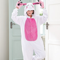 Funny Animal Love Rabbit Onesie Jumpsuit For Adult Kigurumi Pajamas Women For Sleepwear Men Bunny Pyjama Cosplay Halloween Party