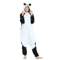 Cute Kungfu Panda Kigurumi Flannel Cartoon Cosplay Onesie Warm Panda Night-suit Set Jumpsuit Couple Sleepwear Costume For Party