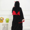 Funny Black Devil Kigurumi Soft Flannel One-Piece Pajamas Warm Demon Halloween Onesie For Adults Cosplay Party Costume Sleepwear