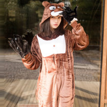 Cartoon Character Coffee Bear Onesies For Women Pajamas For Home Party Kigurumi For Halloween Cosplay Siamese Sleepwear Costume