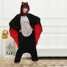 Funny Animal Onesie Bat Kigurumi For Adult Pajamas Women Men Cosplay Onesies Sleepwear One piece Pyjamas Halloween Costume Large