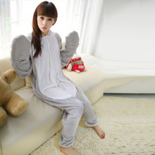 Fancy Sea Lion Kigurumi Grey Flannel Animal Onesies Soft Women Pajamas Party Bodysuit Cosplay Unisex Sleepwear Halloween Pyjamas