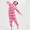 Funny Fleece Cheshire Cat Kigurumi Adult Animal Onesie Pink Pajamas Winter Bodysuit Cosplay Unisex Sleepwear Halloween Costume
