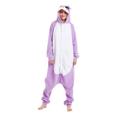 Purple Animal Big Ear Rabbit Kigurumi Bunny Character Pajamas Adult Onesies Women Siamese All In One For Cosplay For Halloween