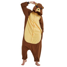 Funny Brown Bear Onesie Kigurumi Women Jumpsuit For Adult Pajamas Sleepwear Men Animal Costume Halloween Pyjamas Cosplay Party