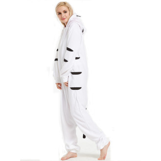 Soft White Tiger Kigurumi Animal Adult Onesies Pajamas For Women Siamese All In One For Halloween Cosplay Fleece pyjamas