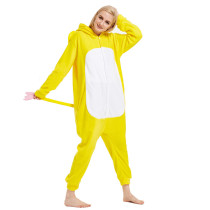 Animal Yellow Elephant Kigurumi For Adult Pajamas Polar Fleece Onesie For Halloween One-piece Jumpsuit Siamese Cosplay Custome