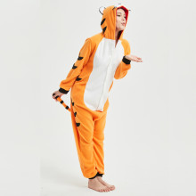 Soft Bengal Tiger Kigurumi Animal Adult Onesie Orange Pajamas For Sister Women Cosplay Unisex Sleepwear Stage Halloween Costume