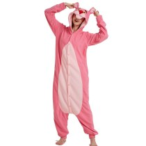 Hot Pink Panther Onesie Pajamas Polar Fleece Adult Kigurumi For Halloween Costume Pink Leopard One-piece Jumpsuit Cosplay Suit