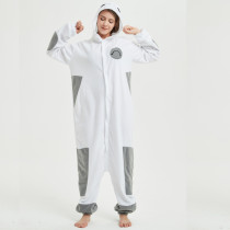 Polar Fleece Big Hero 6 Baymax Kigurumi Pajamas For Adult Onesie Pyjamas Cartoon Jumpsuit Cosplay Sleepwear Halloween Party Suit