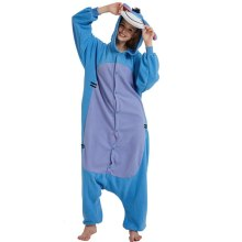 Blue Polar Fleece Fabric Eeyore Donkey Kigurumi Cartoon Cosplay Costume Anime Pajamas Adult Onesie Halloween Carnival Party