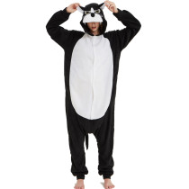 Black Polar Fleece Panther Kigurumi Adult Onesie Animal Pajamas Jumpsuit Sleepwear For Halloween Christmas Soft Pyjamas Costume