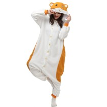 Soft Hamtaro Kigurumi Polar Fleece Mouse Cosplay Costume Animal Sleepwear Pajamas Adult Onesie Halloween Carnival Party Jumpsuit