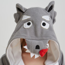 Comfortable Grey Wolf Kigurumi Pajamas Animal Fleece Adult Onesies Women Pyjamas One-Piece Pyjamas Halloween Christmas Party