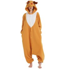 Polar Fleece Elk Deer Kigurumi Animal Pajamas For Adult Onesie Jumpsuit Sleepwear For Halloween Christmas Pyjamas Home Party