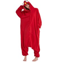 Hot Red Adult Sesame Street Elmo Kigurumi Cartoon Cookie Monster Pajamas Party Bodysuit Cosplay Sleepwear Halloween Custome
