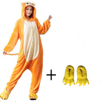 Funny Orange Golden Monkey Onesie Kigurumi Costume Animal Adult Pajama Winter Sleepwear For Halloween Cosplay Carnival Party