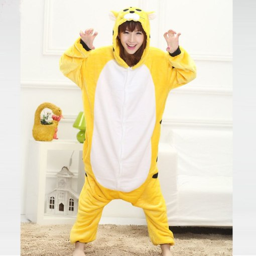 XL suit for 120kg Animal Tiger Onesie Kigurumi Jumpsuit Adult Pajamas Women Sleepwear Men Pyjamas Cosplay Halloween Carnival