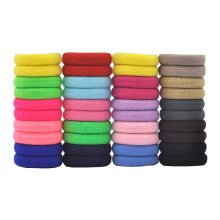 50 Pcs/LOT hair accessories FOR girls and kids RUBBER BANDS BLACK WHITE The ponytail holder Elastic Hair Bands