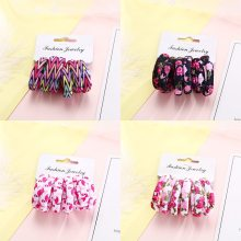 6PCS/Pack New Cotton Print Hair Ropes Elastic Headbands Elegant Hair Bands For Women Girls Rubber Bands Hair Accessories Tie Gum