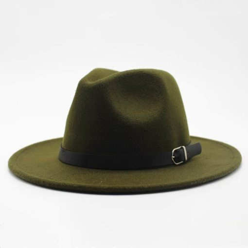 Winter Autumn Imitation Woolen Women Men Ladies Fedoras Top Jazz Hat European American Round Caps Bowler Hats