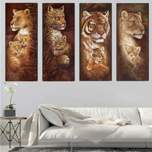 Animal Diamond Embroidery 5D DIY Diamond Painting Christmas Tigers And Giraffes Cross Stitch Full Rhinestone Mosaic
