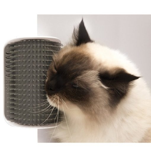 Cat Grooming Tool Hair Removal Brush Comb for Dogs Cats Hair Shedding Trimming Device with catnip Wall Corner Massage Comb